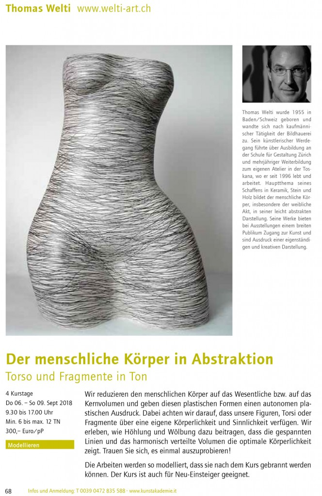 Kurs Angebote | welti-art.ch